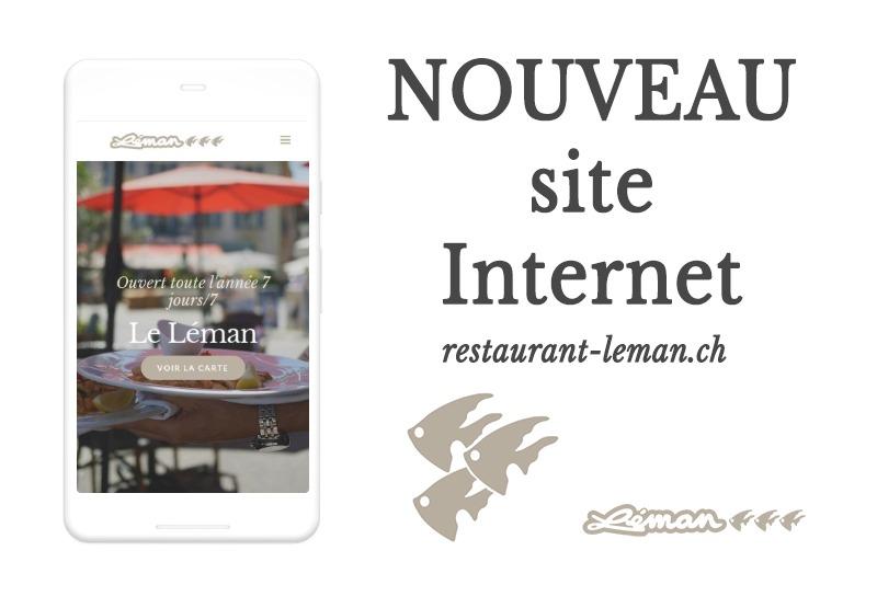 Nouveau site Internet Restaurant Le léman à Nyon
